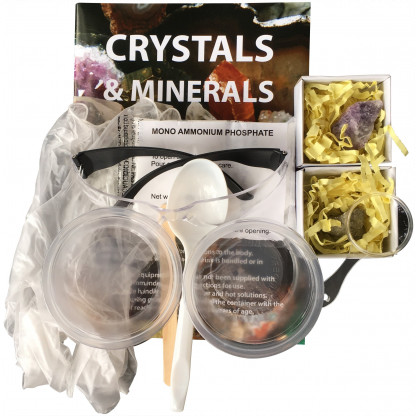 78101 2 Crystals and Minerals science experiment kit includes growing crystals and discovering the amazing qualities and features of minerals that make them essential in everyday life.