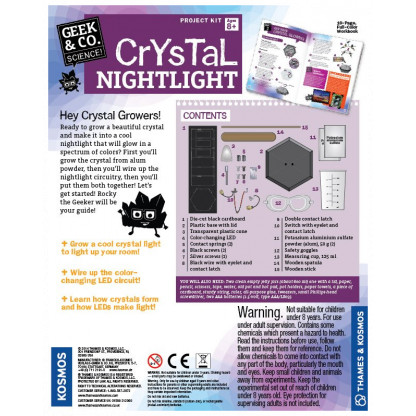 Crystal Night light back of box