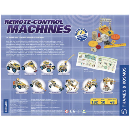 Remote control machines back of box
