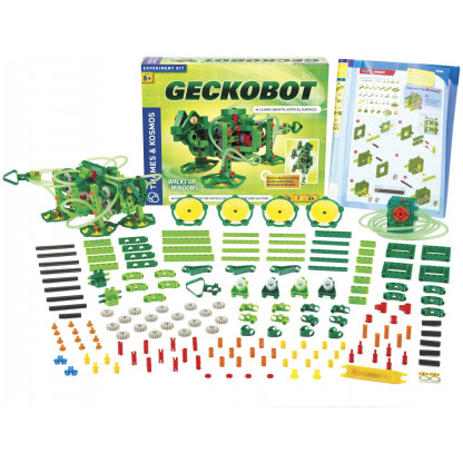 "620365 1 <p class=""p1"">The Geckobot is astonishing wall-climbing robot has a motorized air suction system that enables it to walk vertically up and down perfectly smooth surfaces, like glass, plastic, whiteboards, and glossy laminates.</p>"