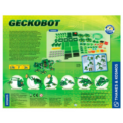 "620365 2 <p class=""p1"">The Geckobot is astonishing wall-climbing robot has a motorized air suction system that enables it to walk vertically up and down perfectly smooth surfaces, like glass, plastic, whiteboards, and glossy laminates.</p>"