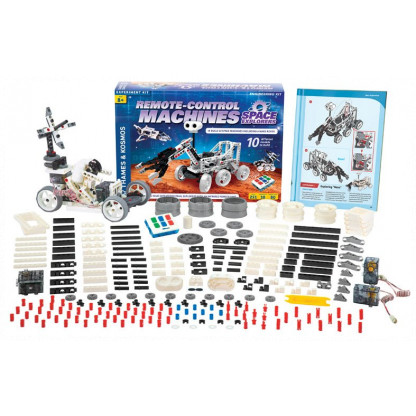 "620374 1 <p class=""p1"">With this Remote Control Machines: Space Explorers engineering kit, you can build a remote-controlled model of a robotic rover resembling the ones used to explore Mars, moon or beyond!</p>"