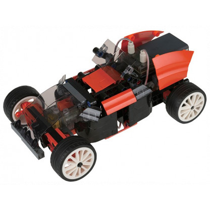 "620376 4 <p class=""p1"">Remote Control Machines Custom Cars is an automotive engineering kit that allows you to construct ten different remote-controlled cars. Build a fast race car that can speed across smooth floors and drive around the room using a precision steering mechanism.</p>"