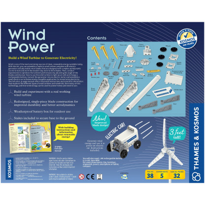 """627929 2 <p class=""""p1""""><b>Wind Power</b> science experiment kit involves assembling a realistic wind turbine complete with electric generator and adjustable rotor blades to look and work like modern-day wind turbines.</p>"""