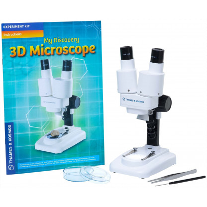 510463 2 This professional quality 3D Microscope is ideal as a first serious microscope, as objects can be viewed directly, without prior preparation, and using both eyes