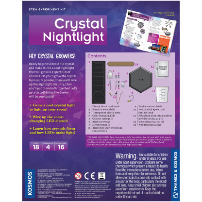 Crystal Nightlight back of box