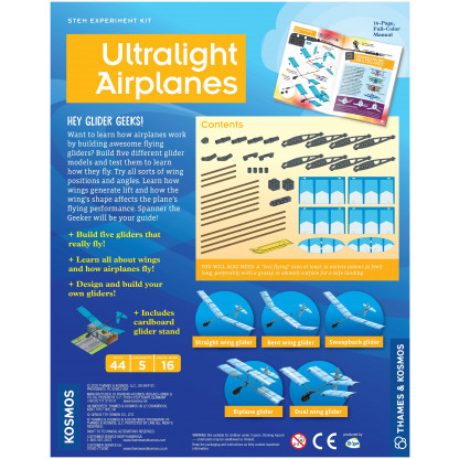 ultralight airplanes back of box