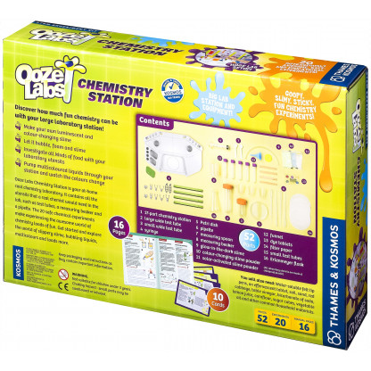 "642105 1 <p class=""p1"">Ooze Labs Chemistry Station allows you to grab your beakers and test tubes and step up to your special Ooze Labs Chemistry Station laboratory for some exciting chemistry experiments.</p>"