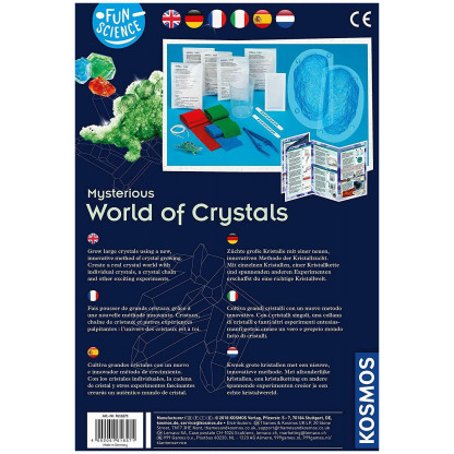 World of crystals back of box