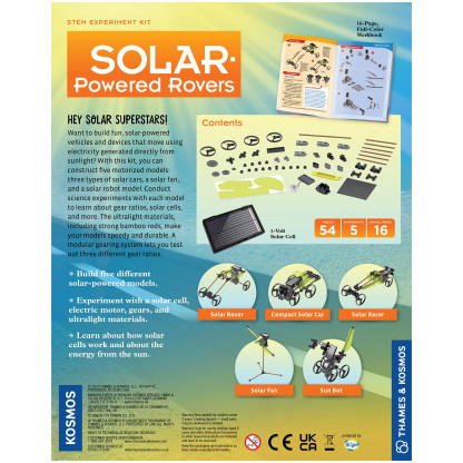 Solar Powered rovers back of box