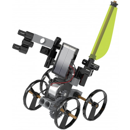 550030 7 Solar Powered Rovers is a science kit that harnesses the sun's energy to do some pretty astonishing things! Construct 5 different solar powered models.