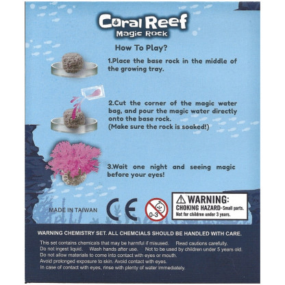 4998 6 Grow a realistic looking coral reef structure using the special crystal method provided in this kit.