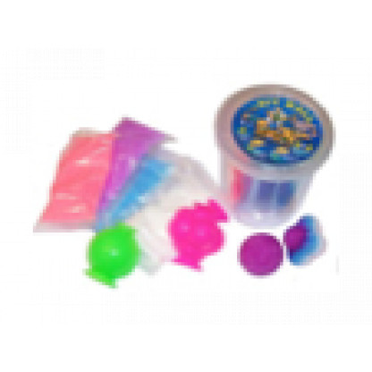 5019 2 Kit contains two ball moulds and four coloured powder sachets. Simply add water, allow to set and: magic - a hi-bounce ball.