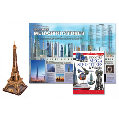5708 3 Kit includes a reference book, wall chart and a model of the Eiffel Tower to put together.