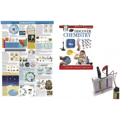 5722 1 Kit includes a 32 page reference book, wall chart and an Electrolysis in colour experiment kit.