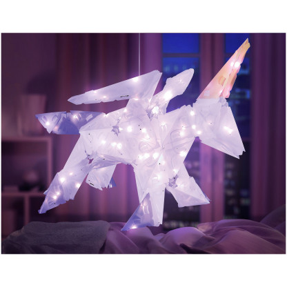888005 3 <strong>Sparkle Unicorn and Friends</strong> includes 140 Creatto pieces, a string of 80 LED lights, and assembly instructions to build a unicorn, bunny, polar bear, and ballerina, but the possibilities are limited only by your imagination! What will you create?