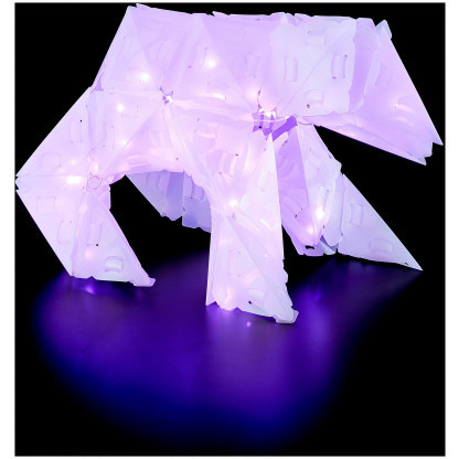 888005 5 <strong>Sparkle Unicorn and Friends</strong> includes 140 Creatto pieces, a string of 80 LED lights, and assembly instructions to build a unicorn, bunny, polar bear, and ballerina, but the possibilities are limited only by your imagination! What will you create?