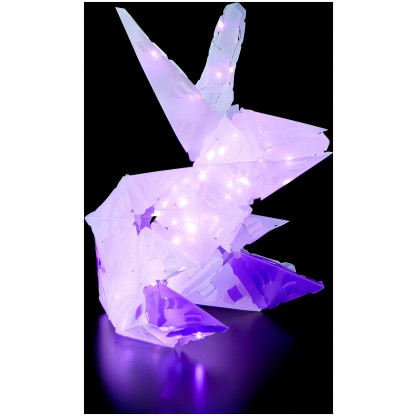 888005 6 <strong>Sparkle Unicorn and Friends</strong> includes 140 Creatto pieces, a string of 80 LED lights, and assembly instructions to build a unicorn, bunny, polar bear, and ballerina, but the possibilities are limited only by your imagination! What will you create?