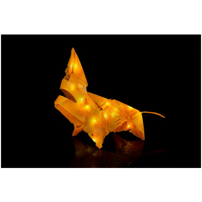 888007 5 Luminous Lion has 34 Creatto pieces and a string of 20 LED lights, you can build a lion, ostrich, snake, and rhinoceros. Battery-powered lights require 2 AA batteries. Suitable for ages 8 and up.