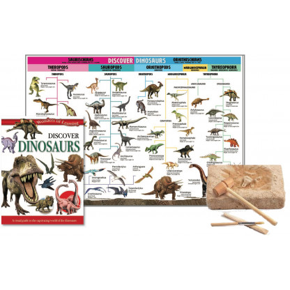 5700 2 Educational tin set including reference book, Wall chart and fossil excavation kit. <img />